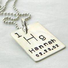 Personalized Periodic Table Element hand stamped by PunkyJane, $50.00