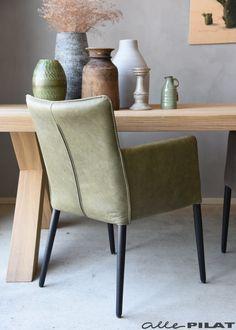 Eetkamerstoel Abel met armleuning in leer - Woonwinkel Alle Pilat Decor, Furniture, House, Dining, Chair, Home Decor, Dining Chairs