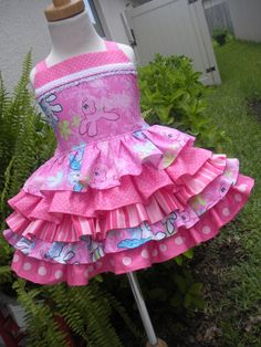Custom Boutique My Little Pony 5 Ruffle Dress Girl 2 3 4 5 6 7 8 Pink on Etsy, $84.00 This is the perfect birthday dress!