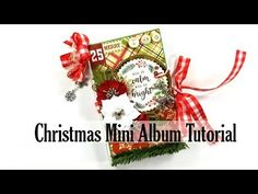 Christmas in July Vintage All Is Bright Mini Album Polly's Paper Studio Tutorial Scrapbook DIY Christmas Mini Albums, Christmas Minis, Christmas In July, First Christmas, Scrapbook Cards, Scrapbooking, Paper Design, Creative Ideas, Stamping