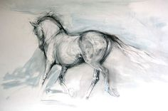 Moving Off -  #horse #art #print by Lydia Kiernan - Equestrian Art