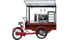 Triporteur café taille XL,machine deux groupe