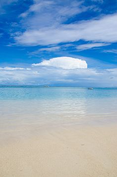 Roatan, Honduras. Beach Cloud.  I spent a day here during Christmas break in Jan 1997.  It was beautiful.