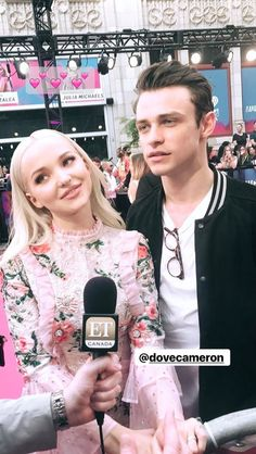 Dove Cameron and Thomas Doherty on @ETCanada Insta Sories.