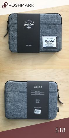"""Herschel iPad Air Case This iPad Air case is brand new and still has its styrofoam! The color is gray with black polka dots and is """"SCTR RAVEN"""". Please let me know if you have any questions! Herschel Supply Company Accessories Tablet Cases"""