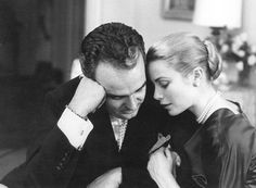 Prince Rainier and Her Serene Highness Princess Grace of Monaco share a tender moment
