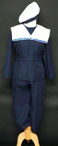 Boys-Edwardian-Victorian-WW1-World-Book-Day-Sailor-Style-Fancy-Dress-Suit