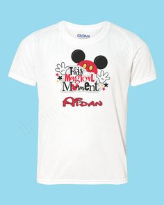 Mickey Mouse name t-shirt Personalized by HeritageKidDesigns