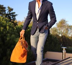 Travel Toy of Absolute Bespoke Toys. Dapper Gentleman, Gentleman Style, Dress Up Jeans, Men Dress, Stylish Men, Men Casual, Casual Chic, Color Combinations For Clothes, Style Masculin