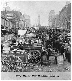 Market day, Jacques Cartier Square, Montreal, QC, 1894