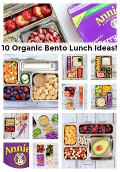Organic Bento Box Lunch Ideas | #yumforall #annieshomegrown AD