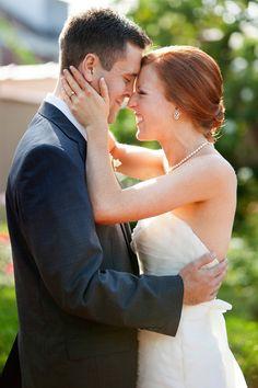 Sweet moment at this garden wedding at Parador in Texas, photos by Kathryn Krueger via junebugweddings.com