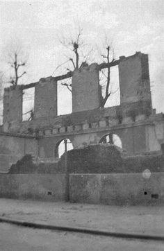 Na het bombardement: Goudschewagenstraat: Burgerweeshuis