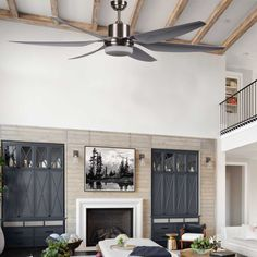 Ceiling fan with very quiet DC motor Lift. Large size fan with diameter is perfect for your home or business. Quiet Ceiling Fans, Motor Dc, Large Fan, Luminous Flux, Luz Led, Fashion Room, Remote, Seasons, Shop