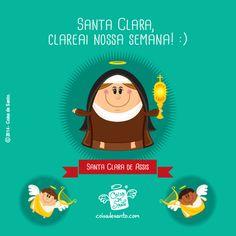 Que Jesus envie nossa querida Santa Clarinha para clarear nosso caminho e nosso entendimento. Amém! #santaclara #coisadesanto