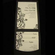 Black and Ivory Wedding Invitations