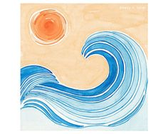 "Surf Art - Wave Art - Waves - Las Olas Art Print (8"" X 8"")"