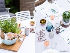 Decorating the table! #garden #grillen #tischdekoration #decoration