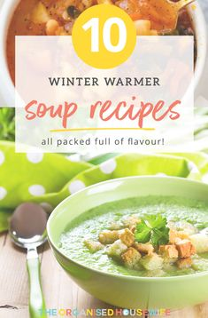 Soup is the perfect winter warmer. I've put together a list of delicious soup recipes to help keep you and your family warm and well fed this winter. Organised Housewife, Homemade Soup, Winter Warmers, Chowder, Soup Recipes, Chili, Soups, Food, Cream