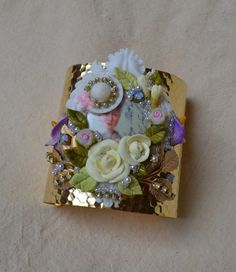 """Abominabilis Tempus French Rococo Inspired cuff bracelet """"Marie Antoinette"""""""