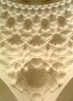 a more modern Muqarnas decoration in Albukhary Mosque in Alor Setar,