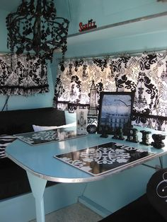 Love the blue with the black and white. .. Just these colors make me want to repaint my office & change it.