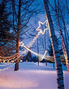 Outdoor Solar Christmas Lights, Christmas outdoor shooting stars lights decor