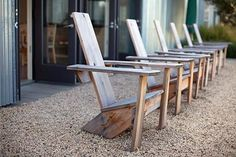 Simple adirondack chairs, inspiration only, no plans