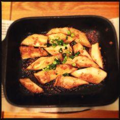 Fried mushrooms in garlic