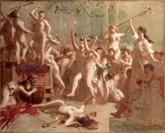 Harvest feast given by Messalina in the palace of Claudius in honor of her lover Silius -Gustave Surand
