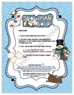 Snowman Soup Sight Word Sentence Game for Kindergarten Through Third product from TeacherTam on TeachersNotebook.com