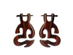 Pin earrings  Spiral earrings  Eco friendly  Tribal by NELAJAPAN
