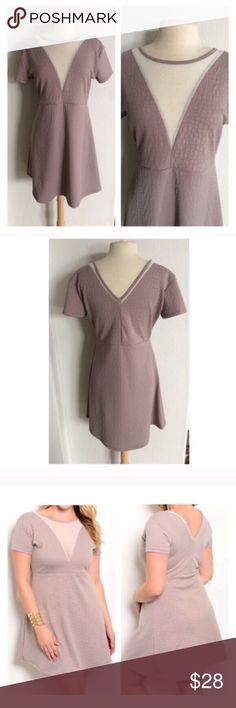 "(Plus) Beige dress 1x: L: 36"" B: 38"" 2x L: 37"" B: 40"" Bust stretches comfortably well beyond measurements. 95% polyester/ 5% spandex. These are extremely soft and have great stretch! I recommend ordering one size up Availability 1x•2x • 1•2 ⭐️This item is brand new from manufacturer without tags.  🚫NO TRADES 💲Price is firm unless bundled 💰Ask about bundle discounts Dresses Mini"