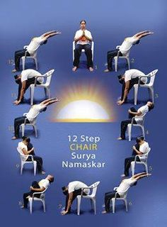 12 step chair surya namaskar
