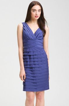 Adrianna Papell Shutter Tuck Dress available at Nordstrom Sister Wedding, Wedding Fun, Wedding Ideas, Tuck Dress, Evening Dresses, Formal Dresses, Camille, Tiered Dress, Tan Lines