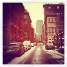 Snow in NYC. First solo trip since baby.
