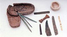 Instrumentos hallados en el yacimiento Cabezo Juré - En Cabezo Juré, un yacimiento arqueológico de Alosno (Huelva) del 3000 antes de Cristo, había toda una industria dedicada a trabajar el cobre