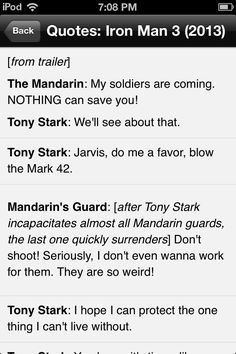 Look at the Mandarin's guard line!!!! Hahaha one of my favorite lines from Iron Man 3!!!!!!!!!!!