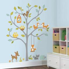 woodland-fox-friends-tree-peel-and-stick-giant-wall-decals-4