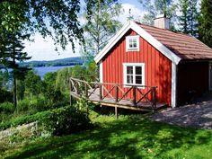 Unser neues Ferienhaus Smedjan mit traumhaften Ausblick über den See Bunn