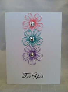 "Card Kit Set Of 4 Stampin Up Flower Shop ""For You"" Any Occasion"