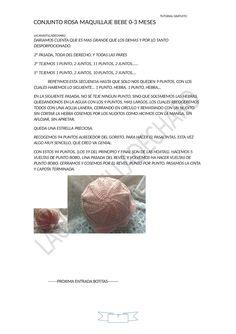 """TUTORIAL CONJUNTO ROSA MAQUILLAJE BEBE 0-3 MESES, ORIGINAL DE LACANASTILLADECHARO, PARA EL GRUPO """"QUE LE PONEMOS A NUESTROS BEBES"""" PRO..."""