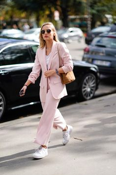 Pink Monochrome Outfit #pinkfashion #pinkblazer #blazers