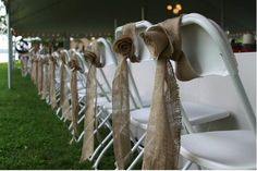 chair covers. rustic.