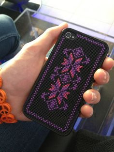 Cross stitch iPhone cover Norwegian pattern by Ladykluckscrafts on Etsy https://www.etsy.com/listing/235273643/cross-stitch-iphone-cover-norwegian