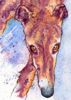 Whippet/Greyhound watercolor print https://www.etsy.com/listing/210546020/fabulous-print-of-original-watercolour