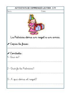 Dori dos 1112_mt005_r1_comprensio_lectora_3 Catalan Language, Maila, Sistema Solar, School, Texts, Writing, Frases, Reading Comprehension, Solar System