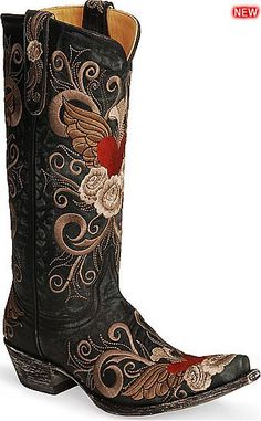 Womens Old Gringo Boots Grace Black - Outback Leather