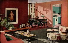 1950s interior design and decorating style -- 7 major trends - William Pahlmann via Retro Renovation