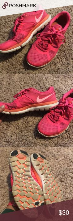 Pink nike tennis shoes Great condition used but still a lot of life left Shoes Sneakers